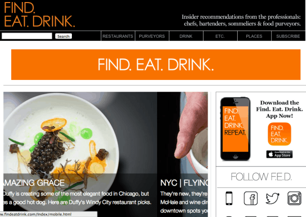 Find. Eat. Drink. (screen shot )