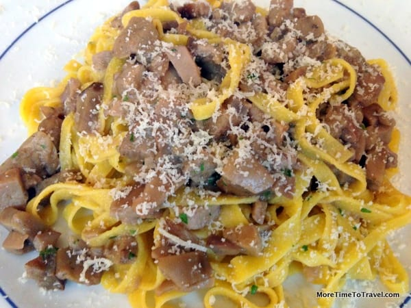 Tagliatelle with Porcini Mushrooms at Baita