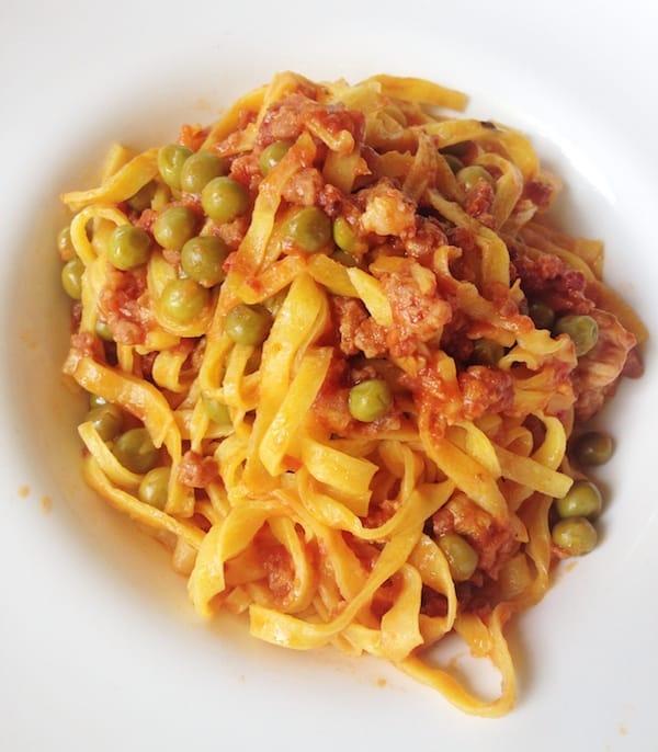 Tagliatelle with ragu and parmigiano (Photo courtesy Flora Pinotti Sano)