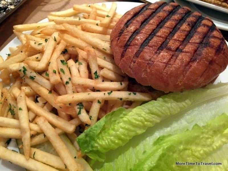 Grilled Auberge Burger, Traditional Garnish, Pommes Frites
