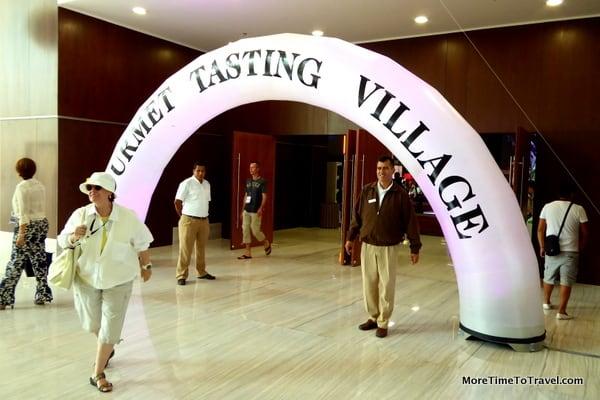 Gourmet Tasting Village at Moon Palace Golf & Spa Resort (at last year's Cancun-Rivera Maya Wine and Food Festival)