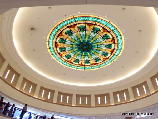 Stained glass domed ceiling