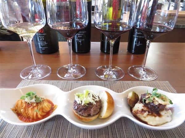 Food and wine pairing at B Cellars (Credit: John and Sandra Nowlan)