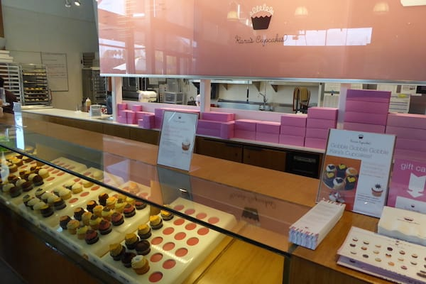 Cupcake display at Kara's Cupcakes at the Oxbow Public Market in downtown Napa