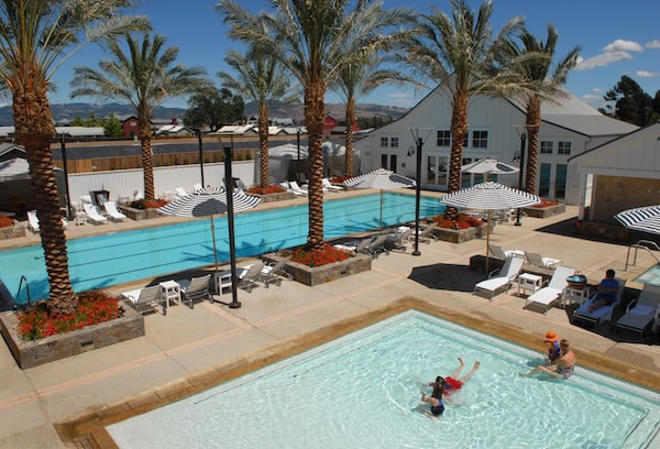Kid-friendly pool on the grounds of the Carneros Inn (Photo credit: Carneros Inn)