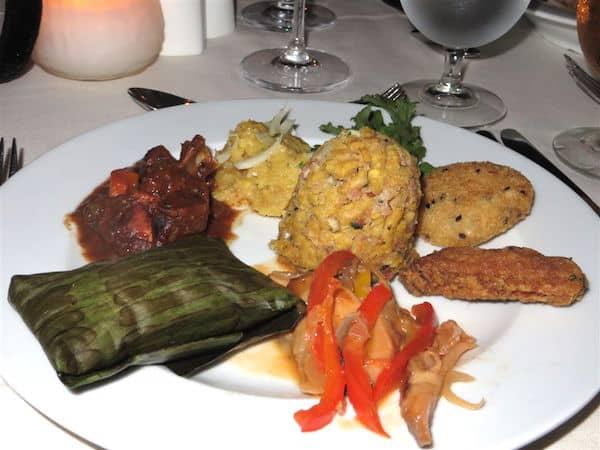 Dominican dinner (Credit: John and Sandra Nowlan)