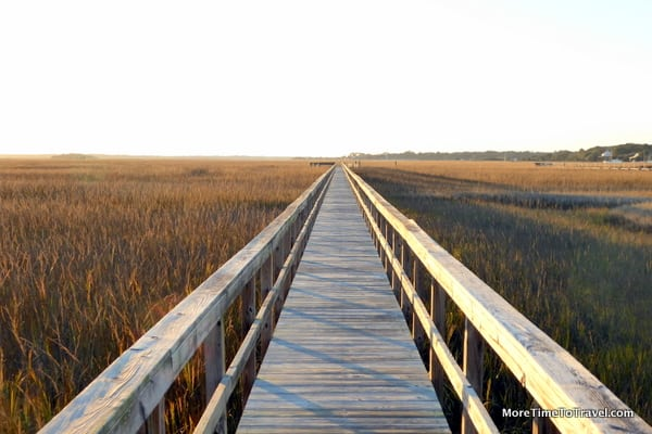 Jetty over a characteristic marsh on Johns Island