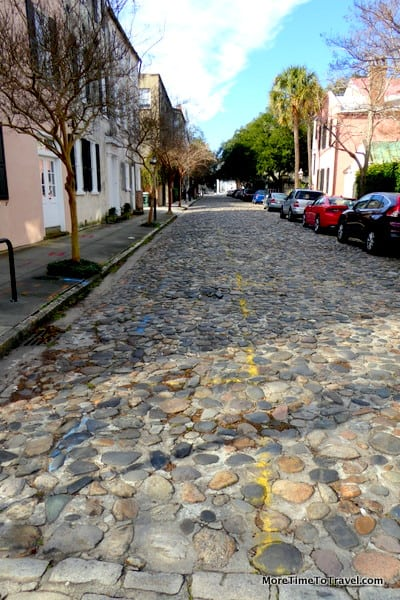 Chalmers Street, the oldest remaining cobblestone street in Charleston