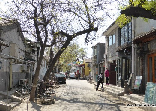One of the larger streets in a hutong