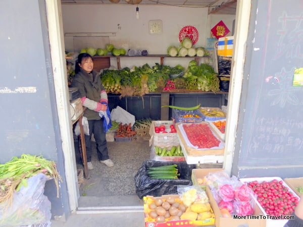 A local grocer in the hutong