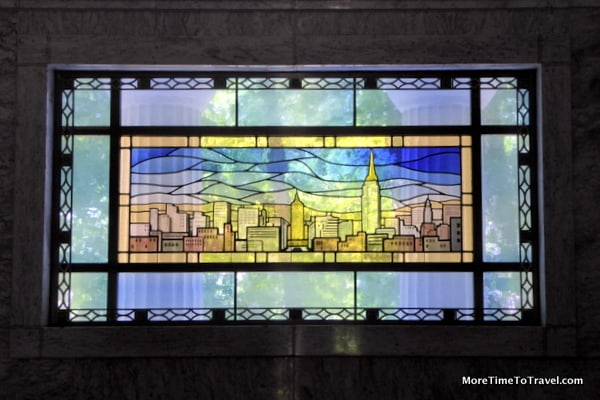 Stained glass windows on the Helmsley Mausoleum
