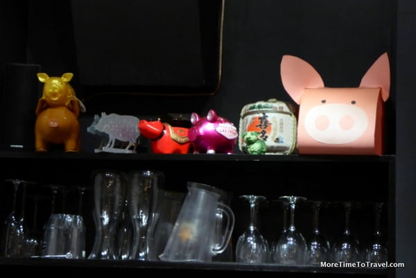 Kitsch pig decor