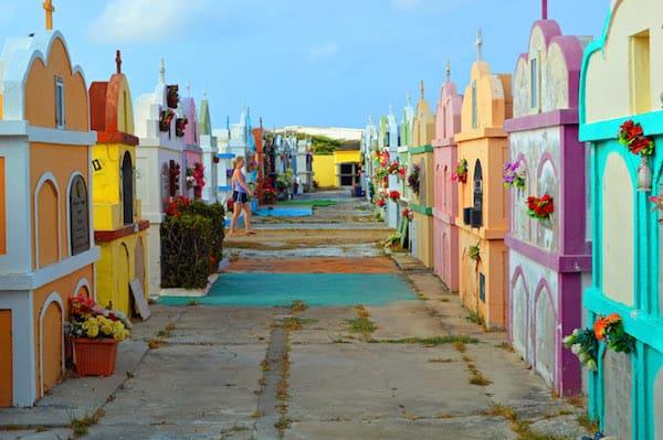 Colorful Aruba Cemetery