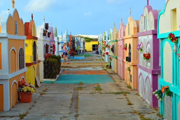 Colorful Aruba Cemetery