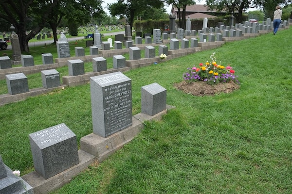 Well looked after grave site of Titanic Victims: Gone But Not Forgotten