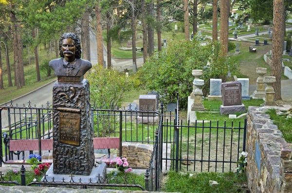 Wild Bill Hickok's grave at Mount Moriah (Credit of City of Deadwood)