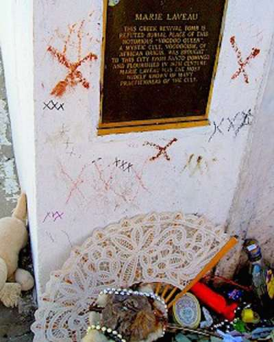 Grave of Marie Laveau at Cemetery #1, New Orleans