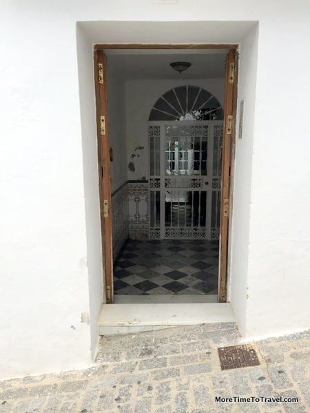 Open doorway in Medina Sidonia