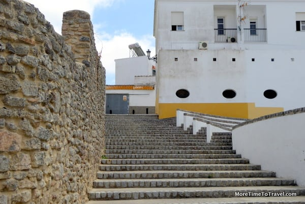 Steps near a wall in Medina Sidonia