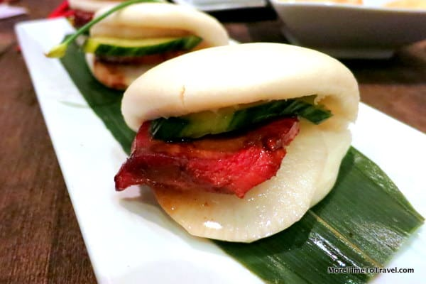 Bao Bao Buns with Berkshire pork, diakon, and housemake pickles