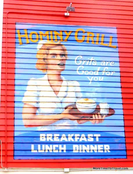 Sign outside Hominy Grill