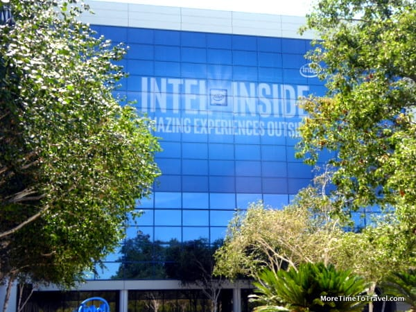 Dramatic exterior of the Intel Museum in Santa Clara