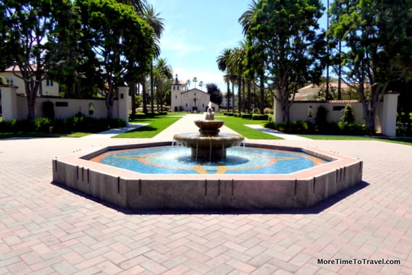 Fountain on the gracious grounds of the College