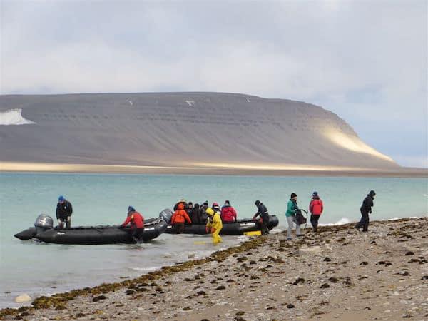 Landing on desolate tundra in Canada's Arctic - Karrat Fjord
