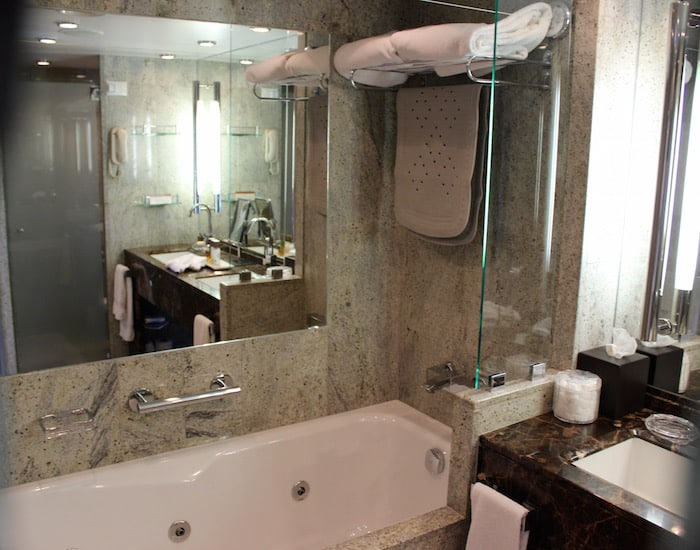 Our marble bathroom (Credit: Maureen Hudson)