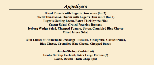 The appetizers