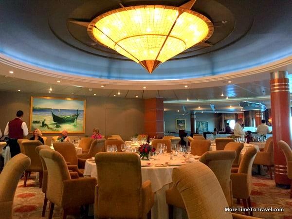 Compass Rose, main dining room on Regent Seven Seas Mariner
