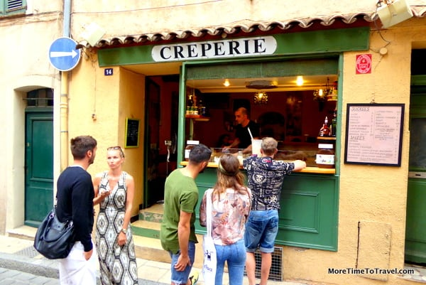 Creperie in St. Tropez