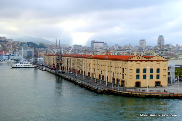 Approaching the old port of Genoa