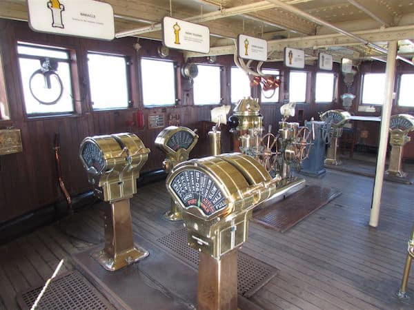 Queen Mary Wheelhouse (Credit: John and Sandra Nowlan)