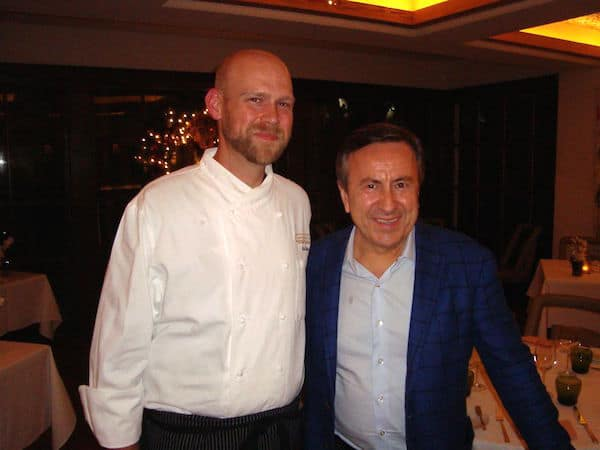 Meeting Chefs Mace and Boulud (Credit: John and Sandra Nowlan)