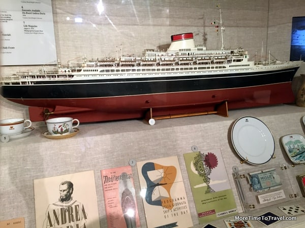 Model of Andrea Doria that collided with MV Stockholm near Nantucket in 1956