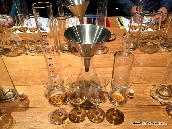 Setup for blending cognac at House of Camus