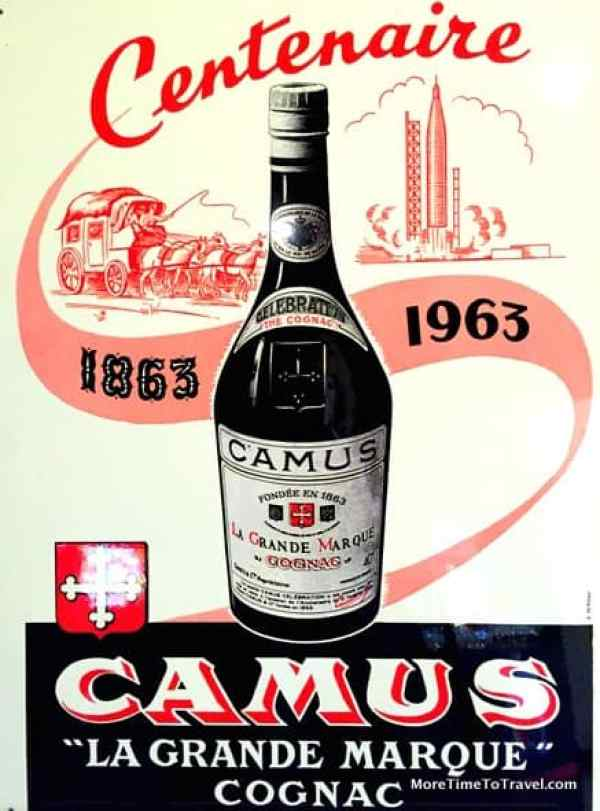 Cognac France: Vintage poster in the retail shop