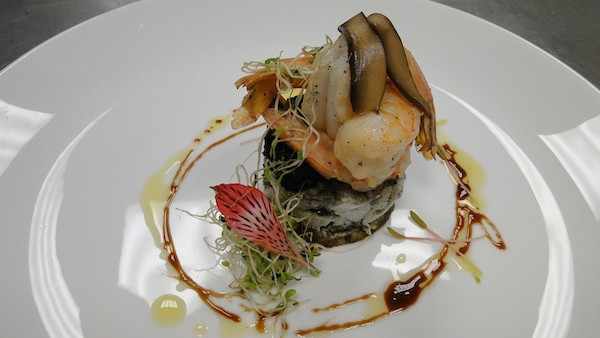 Butter cooked langoustine, with truffle, Portobello mushroom and aged balsamic vinaigrette at Lumiere at Le Blanc Spa Resort (Photo credit: Le Blanc Spa Resort)