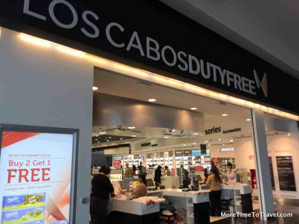 Duty-free shop at Terminal 2, Los Cabos International Airport
