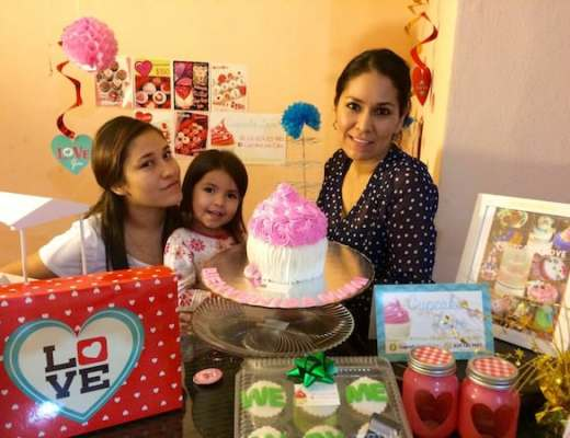 Paola Camarena and her two daughters, Benver and Afrika
