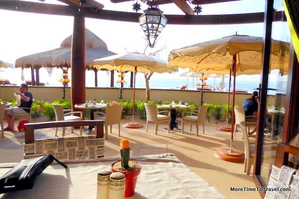 Outdoor seating at Don Manuel at The Resort at Pedregal