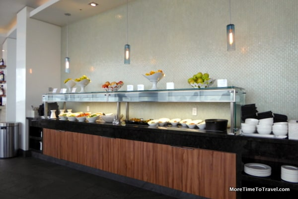 Buffet counter at Centurion Lounge at MIA