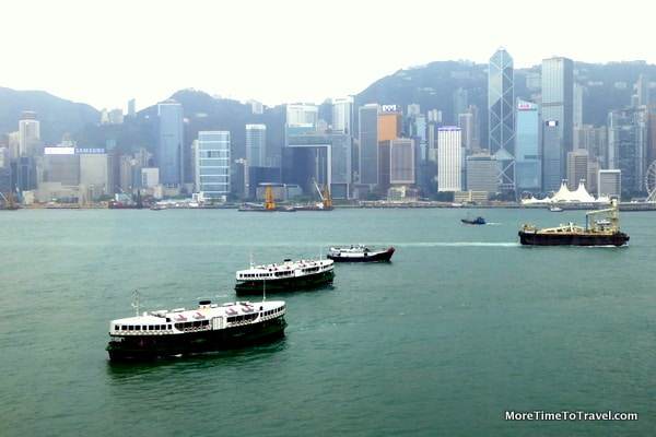 Star Ferries in Hong Kong Harbor