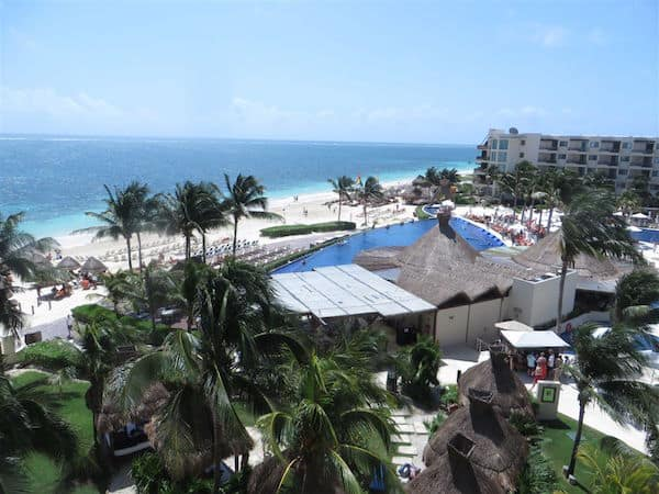 View of the Dreams Riviera Cancun from our balcony