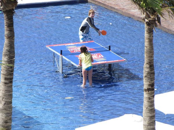 Ping Pong in the water at Dreams Riviera Cancun