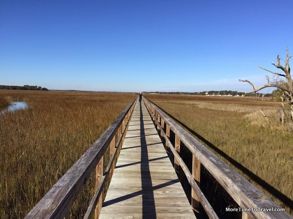 Jetty over the marsh on Seabrook Island