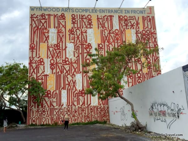 Graffiti art on a building near the Wynwood Walls