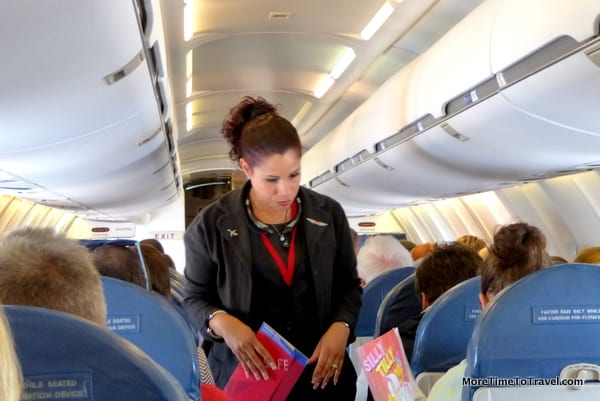 One of our lovely flight attendants