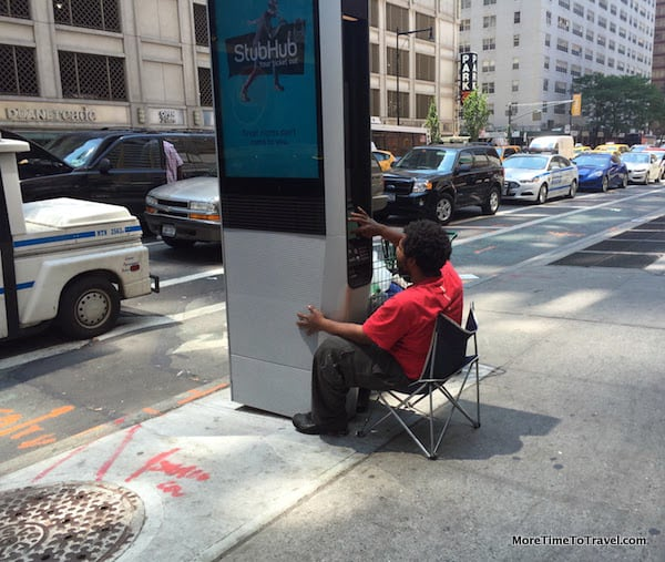 Another link user seen on Eighth Avenue - Bring Your Own Chair (BYOC)